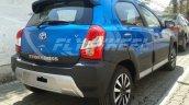 Toyota Etios Cross dealer spied rear quarter