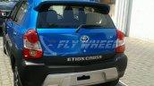 Toyota Etios Cross dealer spied rear