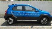 Toyota Etios Cross dealer spied side