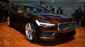 Volvo Concept Estate front three quarter headlamp detail - Geneva Live
