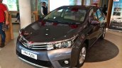 2014 Toyota Corolla spied Indian dealership front quarter