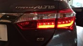 2014 Toyota Corolla spied Indian dealership taillight