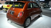 2015 Fiat 500 rear three quarters at the 2014 New York Auto Show