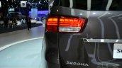 2015 Kia Sedona at 2014 New York Auto Show - taillight