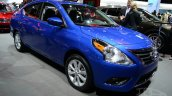 2015 Nissan Versa facelift at 2014 New York Auto Show - front three quarter