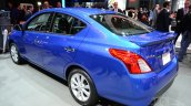 2015 Nissan Versa facelift at 2014 New York Auto Show - rear three quarter