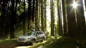 2015 Subaru Outback front three quarter press shot