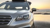 2015 Subaru Outback headlamp detail press shot