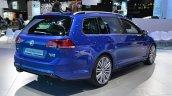 2015 VW Golf Sportwagen at 2014 NY Auto Show rear quarter