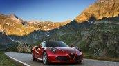 Alfa Romeo 4C front profile press shot
