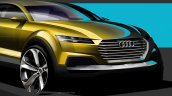 Audi compact SUV concept Beijing sketch grille