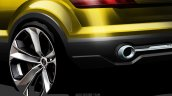 Audi compact SUV concept Beijing sketch taillight