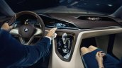 BMW Vision Future Luxury concept dashboard illuminated press image