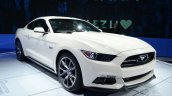 Ford Mustang 50 year limited edition front three quarters at the 2014 New York Auto Show