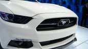 Ford Mustang 50 year limited edition nose at the 2014 New York Auto Show