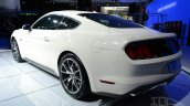 Ford Mustang 50 year limited edition rear three quarters left at the 2014 New York Auto Show
