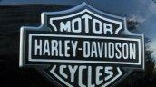 Harley Davidson Street 750 badge on fuel tank