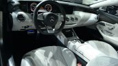 Mercedes S63 AMG Coupe at 2014 NY Auto Show interior