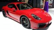 Porsche Cayman GTS front three quarters at Auto China 2014