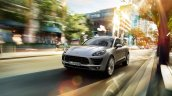 Porsche Macan 2.0 front three quarters press image