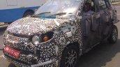 Spied Chennai Mahindra S101 front quarter