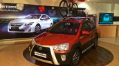 Toyota Etios Cross spied Indian dealership front quarter