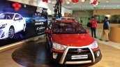 Toyota Etios Cross spied Indian dealership front