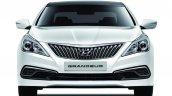 2014 Hyundai Grandeur diesel front at Busan Motor Show 2014
