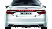 2014 Hyundai Grandeur diesel rear at Busan Motor Show 2014
