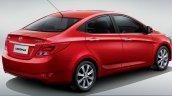 2014 Hyundai Verna facellift China rear three quarters studio image