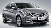 2014 Hyundai Verna front three quarters facellift China studio image