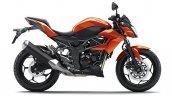 2014 Kawasaki Z250 SL press shots side orange