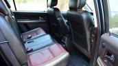 2014 Tata Aria Review rear seat