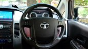 2014 Tata Aria Review steering wheel