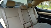 2014 Toyota Corolla Altis Diesel Review rear seat image