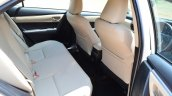 2014 Toyota Corolla Altis Diesel Review rear seat