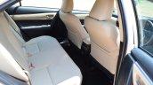 2014 Toyota Corolla Altis Diesel Review rear seat