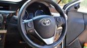 2014 Toyota Corolla Altis Diesel Review steering wheel