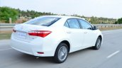 2014 Toyota Corolla Altis Petrol Review rear quarter moving