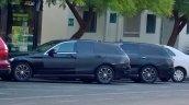 2015 Mercedes C-Class Estate testing in Dubai side