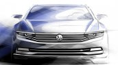 2015 VW Passat front sketch