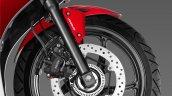 Honda CBR300R front wheel press image
