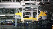 Hyundai India Chennai factory conveyor bringing chassis from paintshop