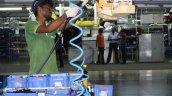 Hyundai India Chennai factory wiring loom fitment