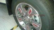 Mahindra XUV500 Sportz wheel caps spied