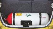 Maruti Celerio Green CNG press shot CNG tank