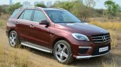 Mercedes-Benz ML 63 AMG Review front quarter angle