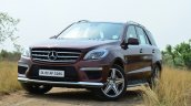 Mercedes-Benz ML 63 AMG Review front quarter