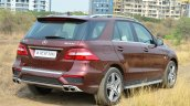 Mercedes-Benz ML 63 AMG Review rear quarter angle
