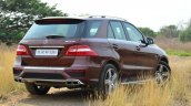 Mercedes-Benz ML 63 AMG Review rear three quarter